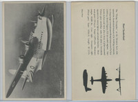 WC 1940's Official Photo Card, WW II Airplanes (4.5X7 in), Short Sunderland