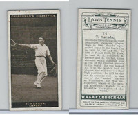 C82-63 Churchman, Lawn Tennis, 1928, #24 T. Harada, Japan