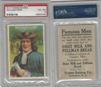 D124 Weber Baking, Famous Men, 1920, William Penn, PSA 4 VGEX