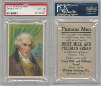 D124 Weber Baking, Famous Men, 1920, James Watt, PSA 4 VGEX