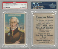 D124 Weber Baking, Famous Men, 1920, Duke Of Wellington, PSA 4 VGEX