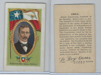 T98 LeRoy Cigars, Rulers of the World, 1900, Chile, Errazuriz (Large)