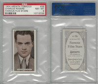 A72-23 Ardath, Famous Film Stars, 1934, #36 Charles Rogers, PSA 8 NMMT