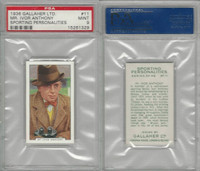 G12-99 Gallaher, Sporting Personalities, 1936, #11 Anthony Horse Race PSA 9 Mint