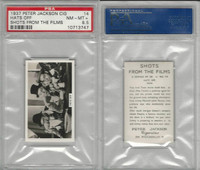 J4-9 Jackson, Shots From The Films, 1937, #14 Hats Off, PSA 8.5 NMMT+