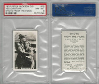 J4-9 Jackson, Shots From The Films, 1937, #15 Yellowstone, PSA 8 NMMT