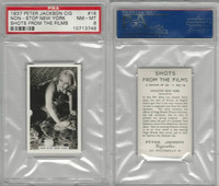 J4-9 Jackson, Shots From The Films, 1937, #16 Non-Stop New York, PSA 8 NMMT