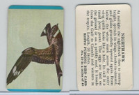 F218-2 Kosto Pudding, Bird Cards, 1964, #29 Nighthawk