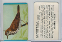 F218-2 Kosto Pudding, Bird Cards, 1964, #47 Wood Thrush