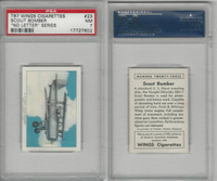 T87 Wings Cigarettes, Series (No Letter Series), 1941,#23 US Navy, PSA 7 NM