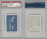 T87 Wings Cigarettes, Series (No Letter Series), 1941, #25 US Navy, PSA 6