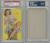 W424-2f Mutoscope, Yankee Doodle Girls, 1942, Look What, Fishing, PSA 6 EXMT