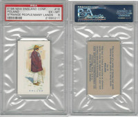 E196 New England, Strange People Many Lands, 1940's, #18 Poland, PSA 6 EXMT