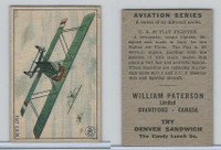 V88 Paterson, Aviation Series, 1930, #40 Fiat CR20 Fighter Airplane