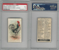E31 Philadelphia, Zoo Cards, Game Fowl, 1907, Andalusian Cock, PSA 5 EX