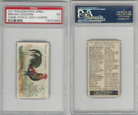 E31 Philadelphia, Zoo Cards, Game Fowl, 1907, Brown Leghorn, PSA 1