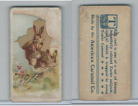 E45 American Caramel, Easter Subjects, 1920's, 3 Rabbits In Big Egg