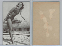 W Card Misc, Pin-Up Girls, At Beach (A)