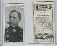 C21 Imperial Tobacco, Military Portraits, 1917, #20 General Rennenkampf