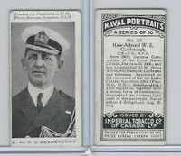 C23 Imperial Tobacco, Naval Portraits, 1915, #22 WE Goodenough