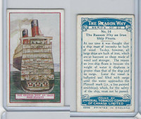C32 Imperial Tobacco, The Reason Why, 1924, #14 Iron Ship Floats