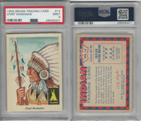 1959 Fleer, Indian Trading, #14 Chief Washakie, Shoshones, PSA 9 Mint