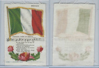 S40 American Tobacco Silk, Flag, Song, Flower, 1910, Mexico