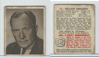 1948 Bowman, Movie Stars, #12 William Demarest