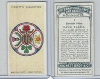 H44-35 Hignett, International Caps & Badges, 1924, #1 British Lawn Tennis