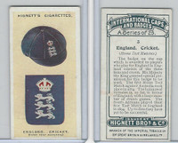 H44-35 Hignett, International Caps & Badges, 1924, #3 England Cricket