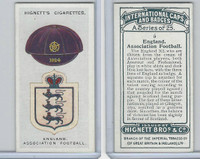 H44-35 Hignett, International Caps & Badges, 1924, #5 England Assoc. Football