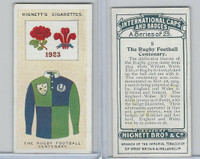 H44-35 Hignett, International Caps & Badges, 1924, #8 Rugby Football Cent.
