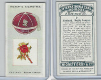 H44-35 Hignett, International Caps & Badges, 1924, #9 England Rugby League