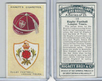H44-35 Hignett, International Caps & Badges, 1924, #10 Rugby Football League