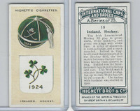 H44-35 Hignett, International Caps & Badges, 1924, #18 Ireland Hockey