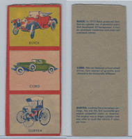 W670-1 Flip Cards, Collectibles Automobiles, 1950's, 3 Panel, Buick, Cord
