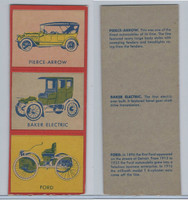 W670-1 Flip Cards, Collectibles Automobiles, 1950's, 3 Panel, Piece, Baker