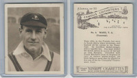 H46-54 Hill Tobacco, Famous Cricketers, 1925, #4 TA Ward, Transvaal