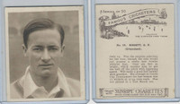 H46-54 Hill Tobacco, Famous Cricketers, 1925, #16 G.F. Bissett, Griqualand