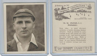 H46-54 Hill Tobacco, Famous Cricketers, 1925, #24 S.J. Staples, Nottingham