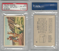F278-19 Post Cereals, Roy Rogers Pop-Out, 1953, #16 A Great Team, PSA 6 EXMT