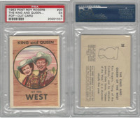 F278-19 Post Cereals, Roy Rogers Pop-Out, 1953, #20 King & Queen, PSA 5 EX