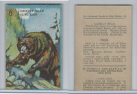 V2 Cowan, Animal Cards, 1920's, (Trimmed) #8 Grizzly Bear