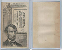 H602 Union Card Company, Presidents, 1890's, Abraham Lincoln