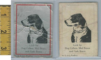 Victorian Card, 1890's, A.G. &J Product, Dog Collars