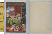 Victorian Card, 1890's, Acme Soap, Girls Stacking Bars, Cat