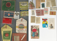 Lot W, Tobacco Tins, Boxes, Pouches, Coupons, Cards, Labels, PHX