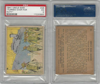 R157 Gum Inc, Uncle Sam, 1941, #28 Turned Over For Duty, PSA 5 EX