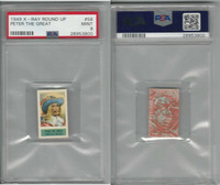 1949 Topps, X-Ray Round Up, #58 Peter The Great, Pirate, PSA 9 Mint