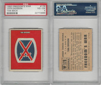 1950 Topps, Freedoms War, #178 10th Division, PSA 4 VGEX